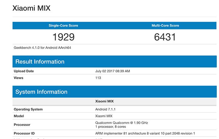 imagen benchmarks xiaomi mi mix 2