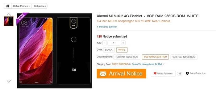 imagen Xiaomi Mi Mix 2