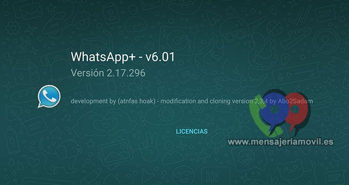 imagen WhatsApp PLUS versión 6.01