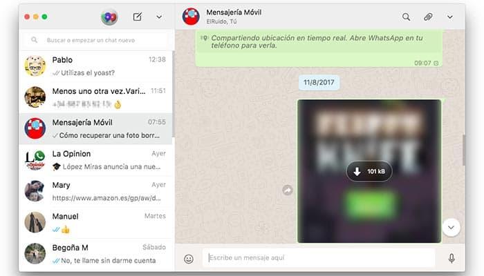 imagen whatsapp web recuperar archivos