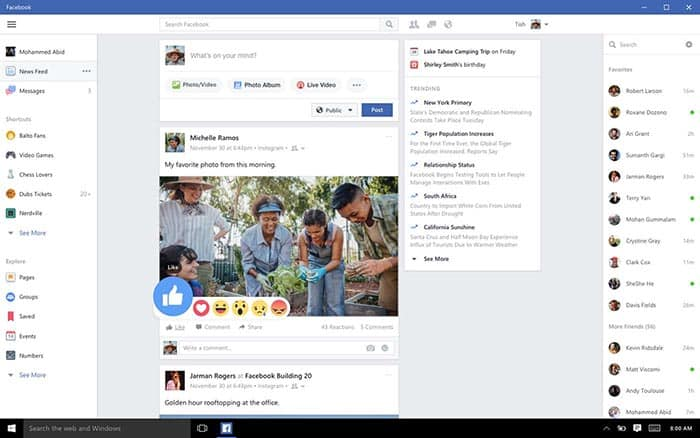 imagen Facebook para Windows 10