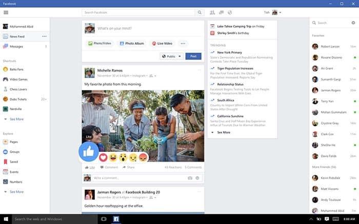 imagen Facebook para Windows 10