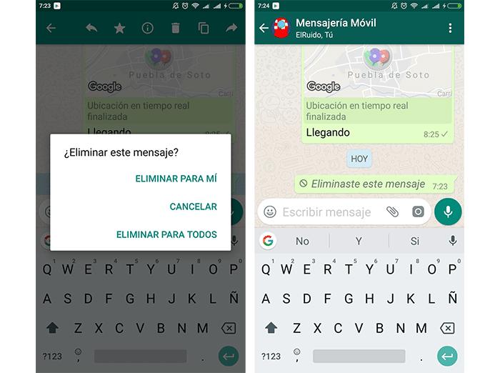 imagen Eliminar Mensajes en WhatsApp para Android
