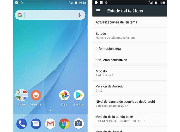 imagen Android One en Xiaomi Remi Note 4