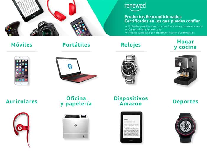 imagen Amazon productos reacondicionados