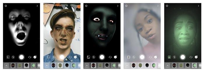 Instagram filtros y pegatinas de Halloween