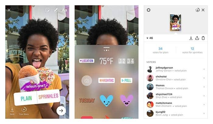 imagen Instagram Stories encuestas