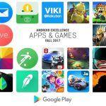 Las mejores aplicaciones y juegos Android según Google de Otoño 2017