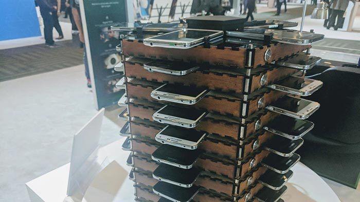 Samsung construye un rack de 40 Galaxy S5 para la extracción de bitcoin