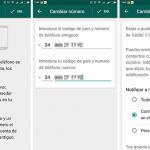 WhatsApp para Android añade las notificaciones al cambiar de número