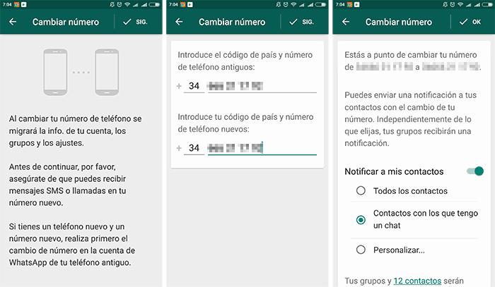 imagen notificaciones al cambiar de número whatsapp
