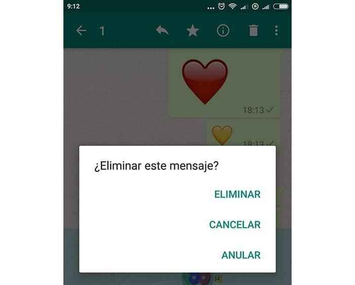 imagen eliminar mensajes enviados