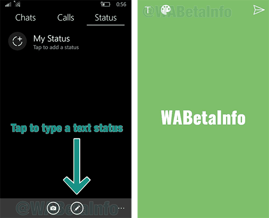 whatsapp windows estados texto imagen