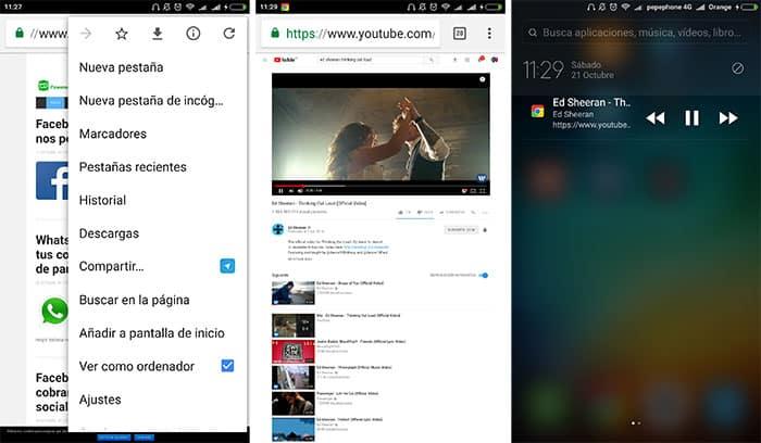 imagen YouTube en segundo plano