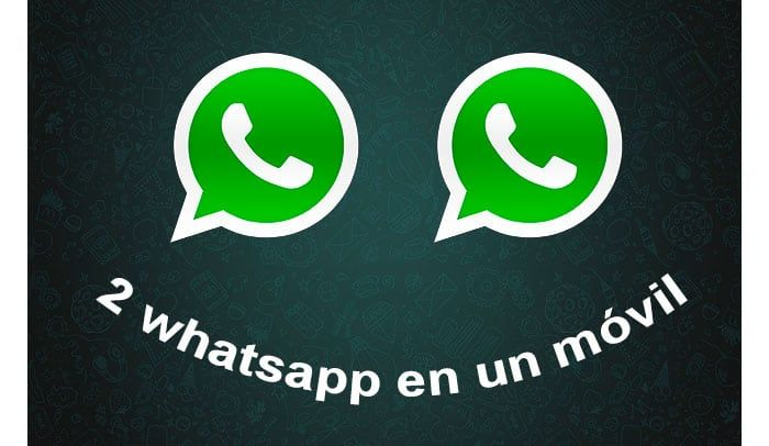 dos cuentas de WhatsApp en un móvil