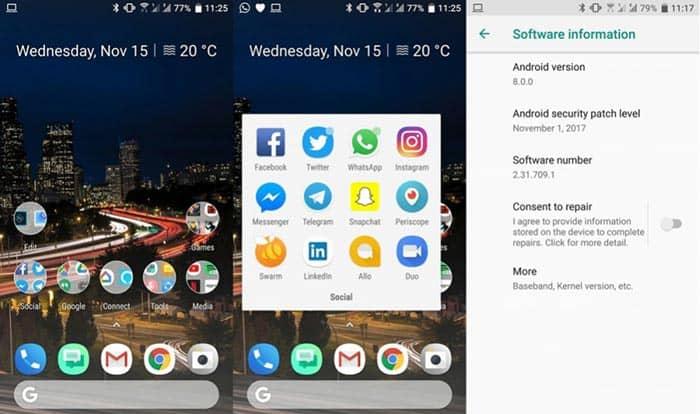 imagen HTC U11 con Android 8.0 Oreo