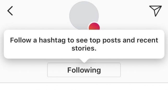 Instagram nos va permitir seguir un hashtag que nos interese