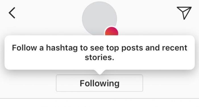 imagen seguir un hashtag instagram