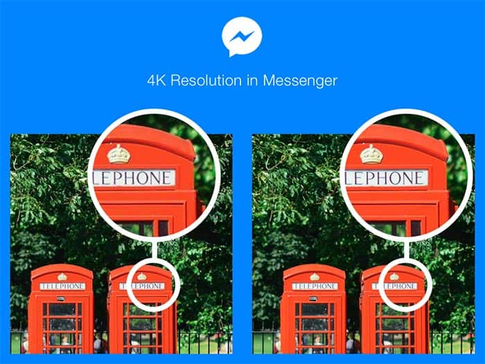 imagenes 4K en Facebook Messenger