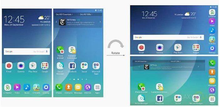 imagen interfaz del Samsung Galaxy X