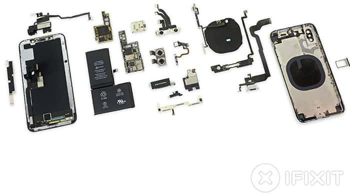 imagen iPhone x por dentro