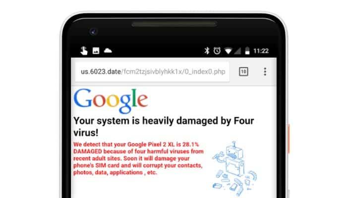 imagen malware