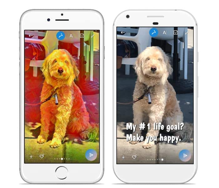 imagen efectos en Skype para Android