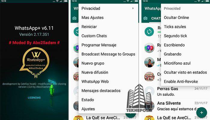 WhatsApp PLUS se actualiza a la versión 6.11