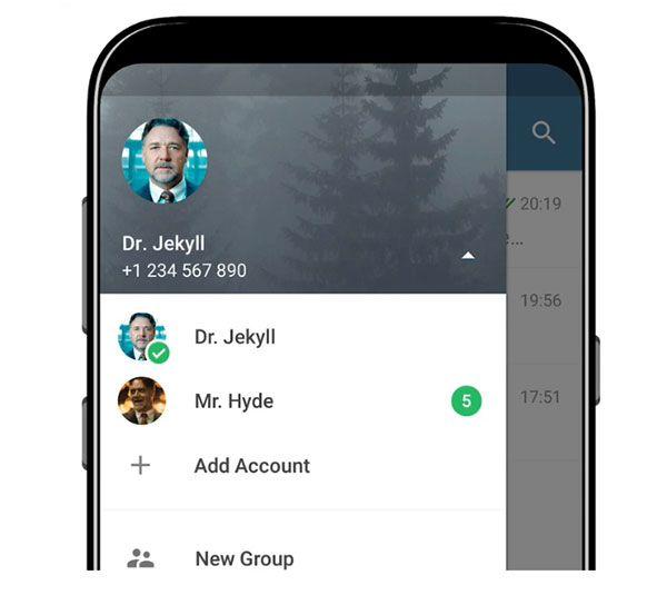 imagen Telegram multiples cuentas