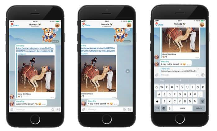 imagen Telegram respuesta rapida