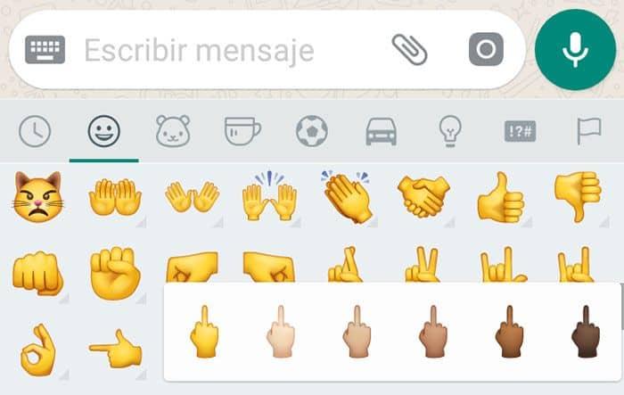 imagen whatsapp emoji dedo