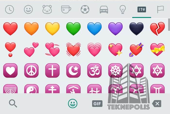 imagen corazones de WhatsApp