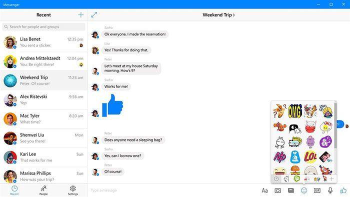 Facebook Messenger para Windows 10 se actualiza estéticamente