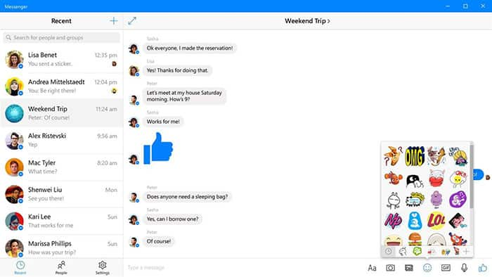 imagen Facebook Messenger para Windows 10