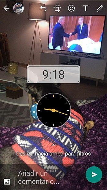 imagen sticker reloj whatsapp