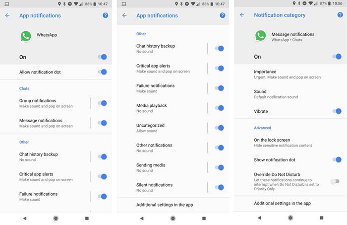 imagen notificaciones para WhatsApp para Android