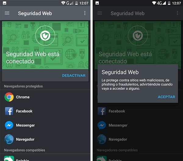 imagen Seguridad Web android
