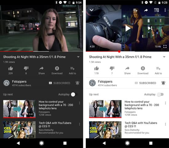 imagen YouTube para Android