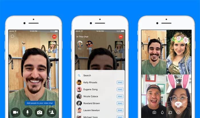 imagen Facebook Messenger videollamadas grupales