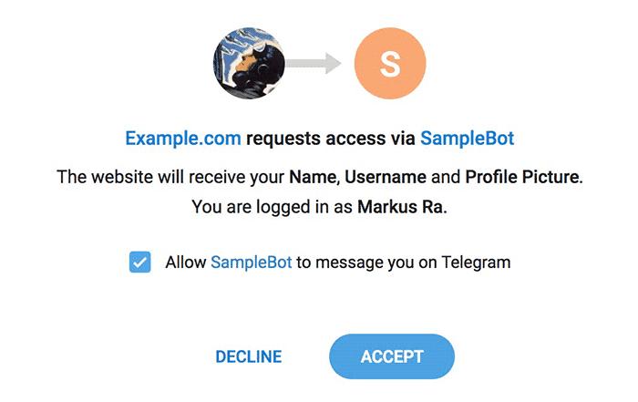 imagen telegram login