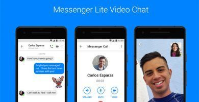 imagen Video Chat en Messenger Lite