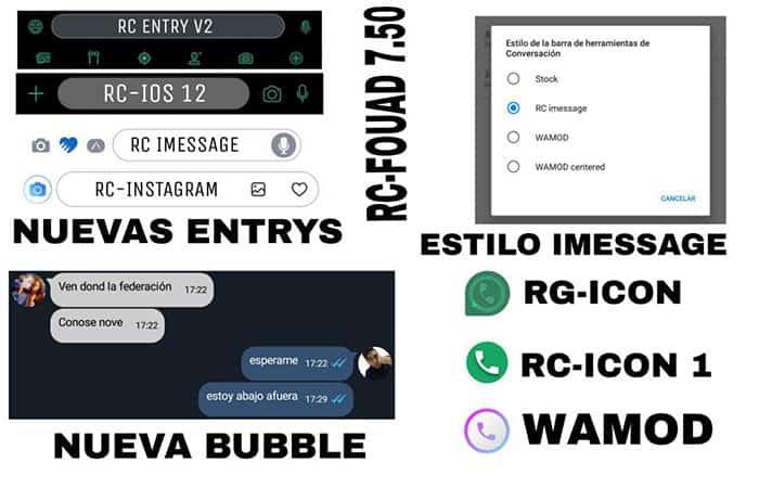 Novedades RC-Fouad WhatsApp v7.50