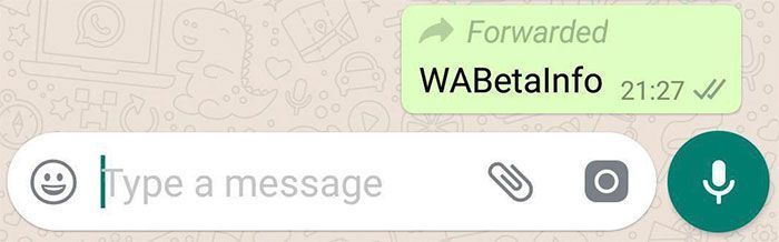 WhatsApp quiere que sepamos cuando reenvían nuestros mensajes