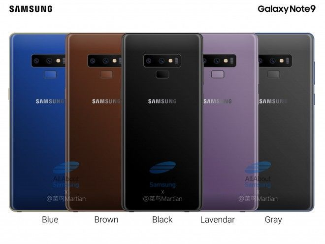 galaxy note 9 colores