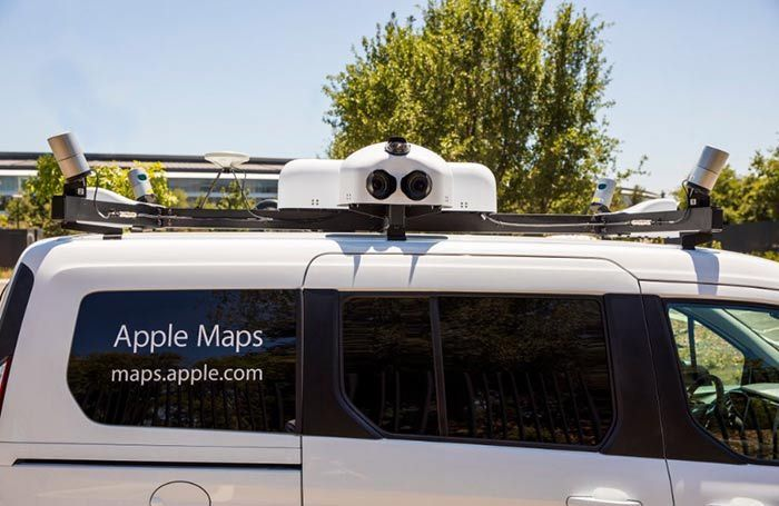 vehiculo maps de apple