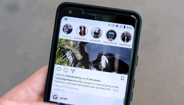 Instagram barra de historias
