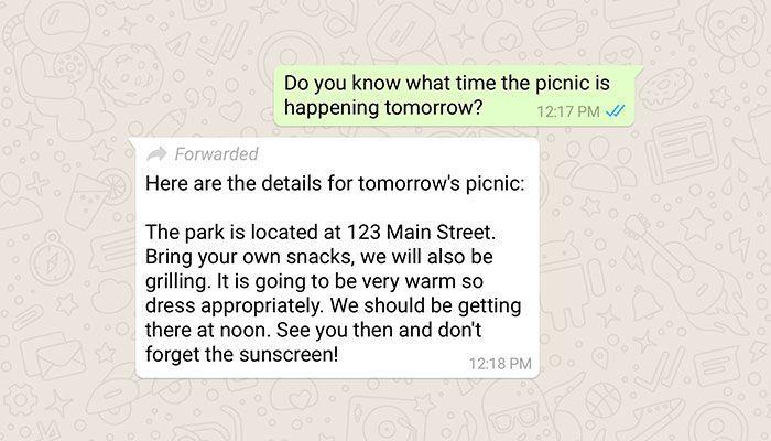 imagen whatsapp mensaje reenviado