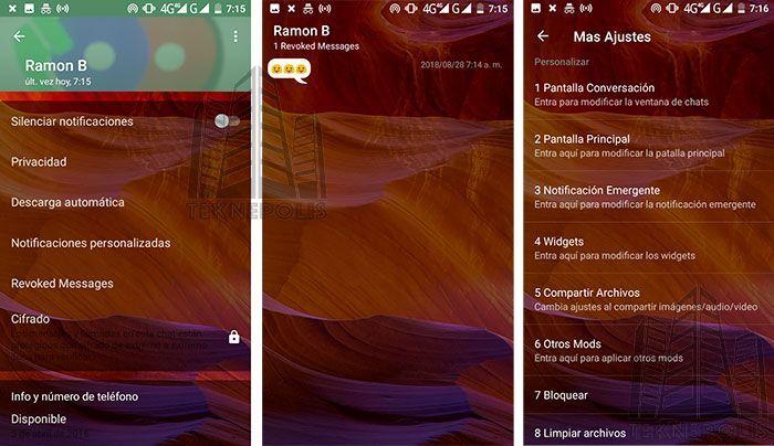 Novedades WhatsApp Transparente