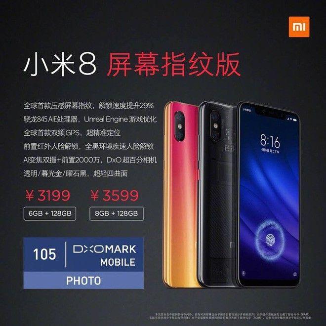 Xiaomi Mi 8 Pro colores