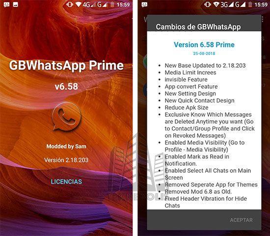 GBWhatsApp Transparent Prime 6.58